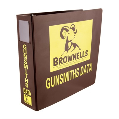 Brownells Data Ring Binder For Loose Leaf Edition- 2 1/2