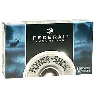 Federal Power Shok Slugs & Buckshot Federal Ammo 12ga 275 15oz Lead 4 10bx U.S.A. & Canada