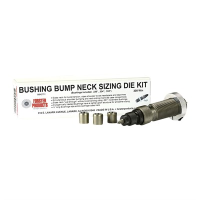 Forster Bushing Bump Neck Die Kits - 22 Nosler Bushing Bump Neck Die Kit