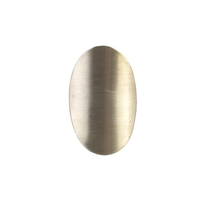 "Stock Oval & Shield - 5/8"" W X 15/16"" H, Gold"