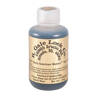Gun Stock Stain - Early American Walnut Stain, 4 Oz.