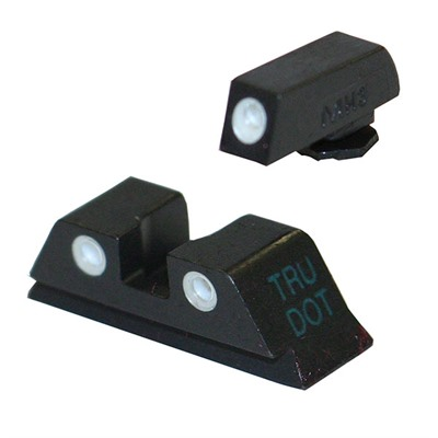 Meprolight Tru-Dot Tritium Night Sight Sets For Glock - Sight Set (Fixed Green/Orange) For Glock 9mm & .40 Cal