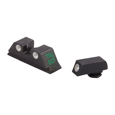 Meprolight Tru-Dot Tritium Night Sight Sets For Glock - Sight Set (Fixed Green/Yellow) Glock 10mm & .45 Cal