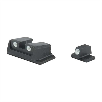 Meprolight S&W Tru-Dot Tritium Night Sight Set - Tru-Dot Sight Set, S&W M&P Full Size, Compact & Subcompact