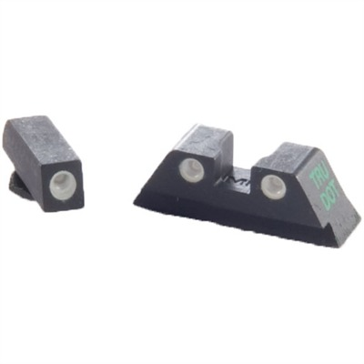 Meprolight Tru-Dot Tritium Night Sight Sets For Glock - Sight Set (Fixed Green/Green) Glock 10mm & .45 Cal