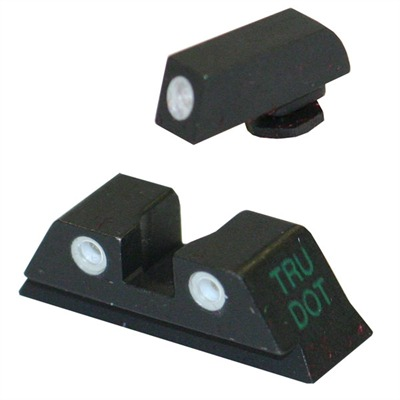Meprolight Tru-Dot Tritium Night Sight Sets For Glock - Sight Set (Fixed Green/Green) Glock 9 & 40 Cal