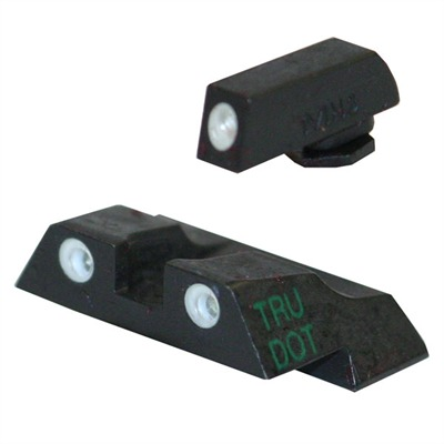 Meprolight Tru-Dot Tritium Night Sight Sets For Glock - Sight Set (Fixed Green/Green) Glock 26, 27