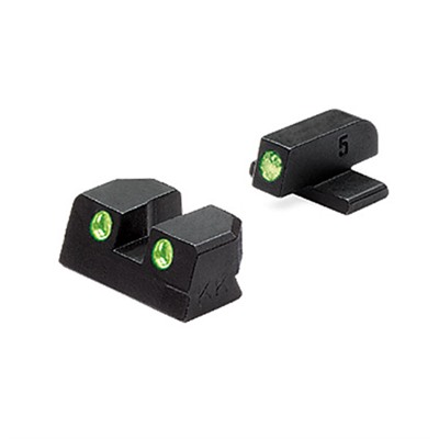 Sig Sauer Tru-Dot® Tritium Night Sight Sets - Sig 40/45acp G/G Fixed Set Td