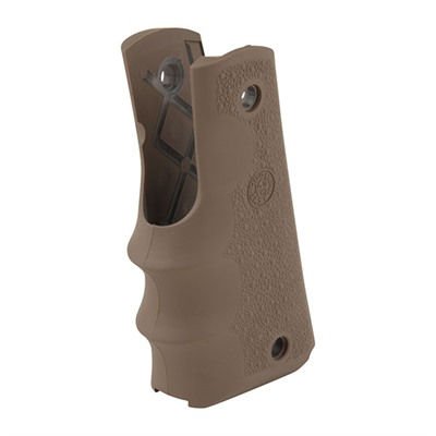 Hogue Semi-Auto Pistol Grips - 1911 Rubber Grip W/ Finger Grooves, Desert Tan