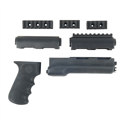 Ak-47/74 Overmolded Forend & Grip - Overmolded Forend And Grip - Black