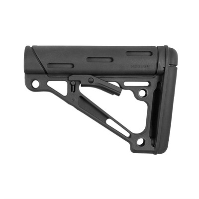 Hogue Ar-15 Overmolded Buttstock Collapsible Commercial Rubber - Ar-15 Overmolded Buttstock Collapsible Comm Black Rubber