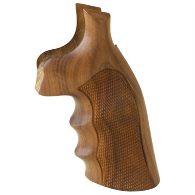 Hogue Wood Monogrips - Checkered Pau Ferro Grip Fits S&W K&L Square