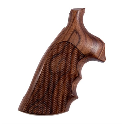 Hogue Wood Monogrips - Checkered Pau Ferro Grip Fits S&W N Square