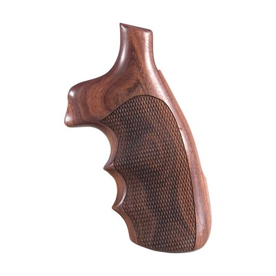 Hogue Wood Monogrips - Checkered Pau Ferro Grip Fits S&W N Round