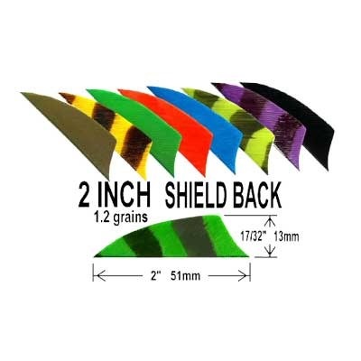 """Shield Back Bar Rw Feathers Shield Back Red 2"""" Rw Feathers Discount"""