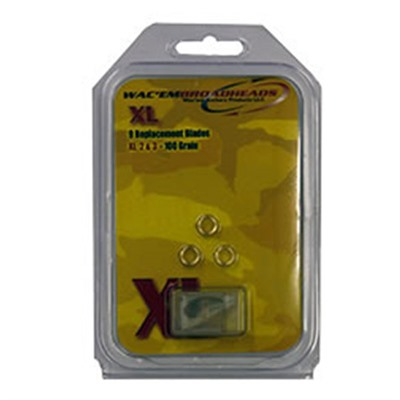 Exit 4 Blade Broadhead Wacem Xl 100gr Replacement Blades Discount