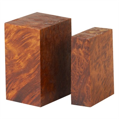 Redwood Burl Forend Tip/Grip Cap Set