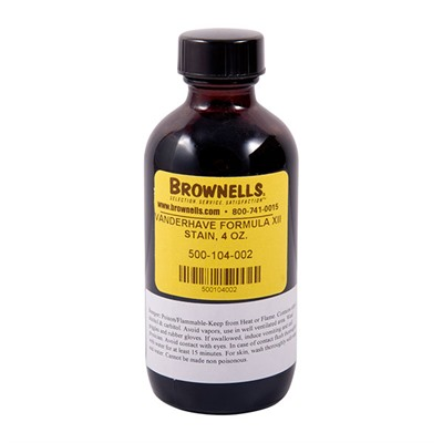 Military Stock Stain - Formula Xii, 4 Oz. Bottle