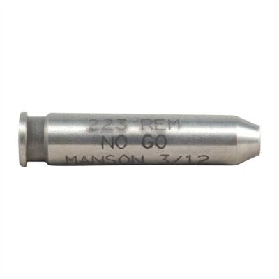 Manson Precision Rimless Rifle/Shotgun Cartridge Headspace Gauges - 223 Remington No-Go Gauge