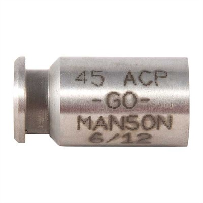Manson Precision Rimmed/Rimless Pistol/Rimmed Rifle Cartridge Headspace Gauges - Go Gauge, Fits .45 Acp