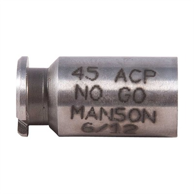 Manson Precision Rimmed/Rimless Pistol/Rimmed Rifle Cartridge Headspace Gauges - No Go Gauge, Fits .45 Acp