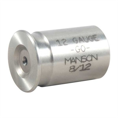Manson Precision Rimless Rifle/Shotgun Cartridge Headspace Gauges - Go Gauge, Fits 12 Gauge Shotgun