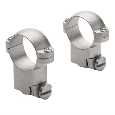 Leupold Ruger Ring Mounts - Ruger M77 1-In High Silver