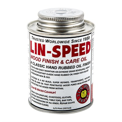 Gb Lin-Speed Gunstock Oil - Half Pint Lin-Speed Finish Oil