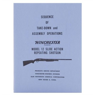 Winchester Factory Manuals - Model 12 Slide Action Shotgun, 116 Pages
