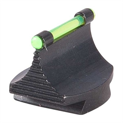 """Marble Arms Rifle Fiber Optic Glow 50 W Front Sight .500"""" Fiber Optic Glow 50 W Front Sight Steel Green"""