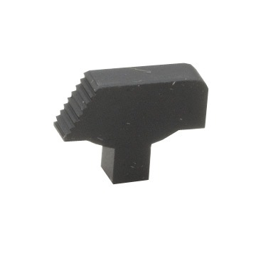 1911 Front Sight - 1911 Front Sight Only Serrated Ramp Plain Black Wide Tenon