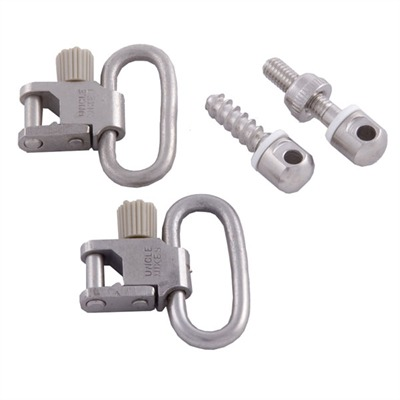 Uncle Mikes 115 Nickel Plated Swivel Set - 1