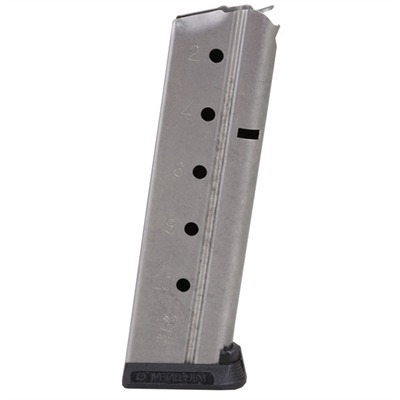 1911 Auto Magazines - 9mm Govt/Comm S/S 10 Rd. Flat Follower W/ Removable Base