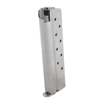 1911 10mm Magazine - 10mm/Govt/Comm S/S 8 Rd. Round Follower W/Welded Base