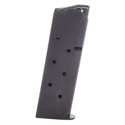 Metalform 1911 45acp Magazines - .45 Govt/Comm Blue 7 Rd. Round Follower W/Welded Base