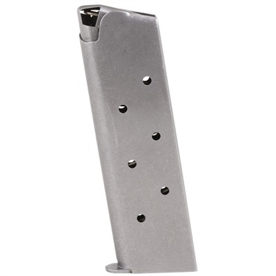 1911 45acp Magazines - .45 Govt/Comm S/S 7 Rd. Round Follower W/Welded Base