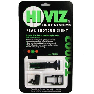 Hiviz Shotgun Rear Sights - Ts1002 Double-Dot Fully Adjustable Rear Sight