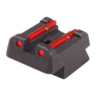 Fiber Optic Rear Sights Red Fits Cz 75 All Except Kadet Champion Ipsc U.S.A. & Canada