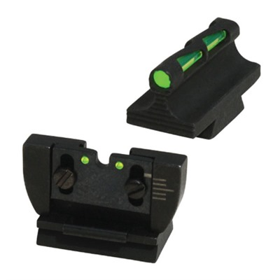Hiviz Ruger 10/22 Litwave Sight Set - Ruger 10/22 Fiber Optic Litewave Sight Set Black