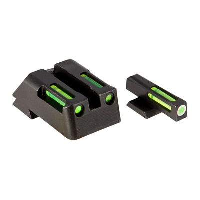 Hiviz Litewave H3 Tritium Orange Ring Front Sight Set W/Green Litepipes - 1911 Lightwave H3 Tritium Sight Set