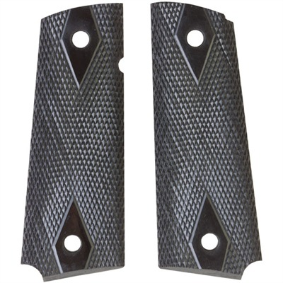 1911 Auto Custom Grips 1911 Std Black Micarta Checkered Grip : Handgun Parts by Navidrex for Gun & Rifle
