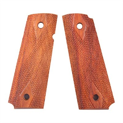 1911 Mahogany Grips - 1911 Std Double Diamond Ctd Grip