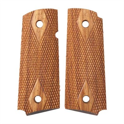 1911 Auto Mahogany Grips - Officers Acp Std Double Diamond Grip