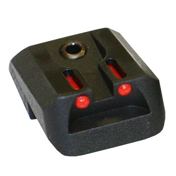 Fiber Optic Rear Sights - Fiber Optic Lo-Mount Rear Sight, Red, Fits Colt 1911