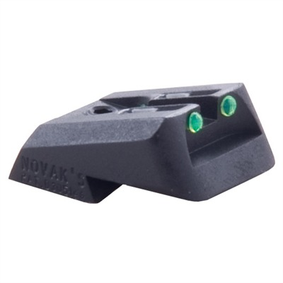 1911 Fiber Optic Rear Sights - Fiber Optic Lo-Mount Rear Sight, Green, Fits Colt 1911