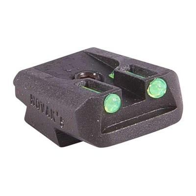 Novak 1911 Fiber Optic Rear Sights - Fiber Optic Lo-Mount Rear Sight, Green, Fits Taurus 1911