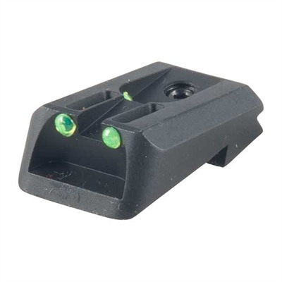 1911 Fiber Optic Rear Sights - Fiber Optic Lo-Mount Rear Sight, Green, Fits Kimber 1911