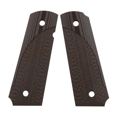 Pachmayr G-10 Tactical Pistol Grips For 1911 - 1911 Full Size Green/Black Checkered G-10 Grips