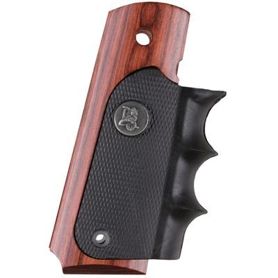 Pachmayr 1911 American Legend Grips - 1911 Legend Finger Groove Grips Rosewood