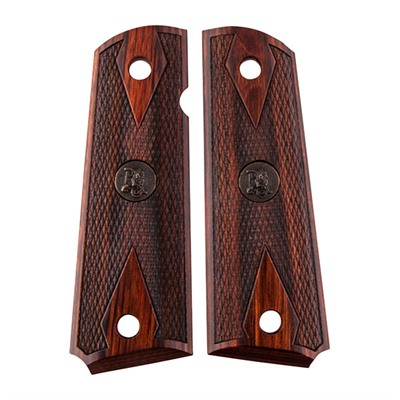 Pachmayr 1911 American Legend Checkered Grips - 1911 Grips Double Diamond Rosewood